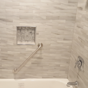 after bathroom tub and wall tile