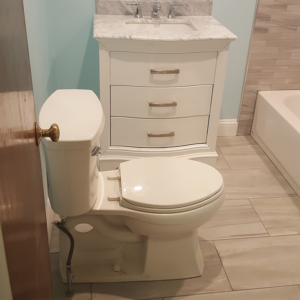 bathroom after toilet and floor