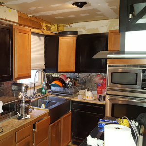 Downigntown kitchen before picture