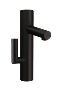 modern black faucet